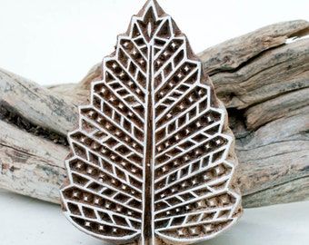 Wood Block Stamp Leaf 188