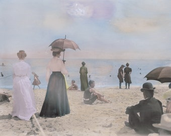 At Day at the Beach, circa 1900