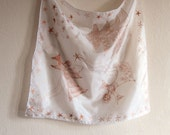 Christmas Angels silk scarf. Women handpainted silk scarf with.Christmas motives,copper gutta-Small square hand painted  scarf