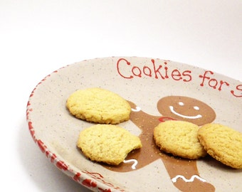 Gingerbread Cookies For Santa Plate - Personalized Christmas Cookie Plate - Gingerbread Man Plate - Santa Snack Plate - Christmas Eve Gift