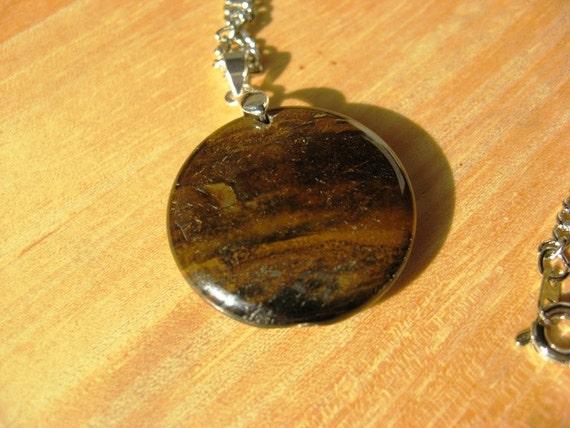 Necklace Tiger Eye Gemstone Pendant