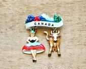 A Little Jig - Vintage Canada Brooch - Vintage Celluloid Brooch