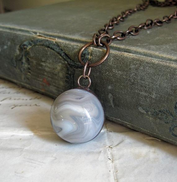 Grey Skies Vintage Marble Necklace Jewelry
