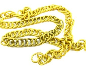 Vintage Brass Double Curb Chain - CN19 - 2 Feet
