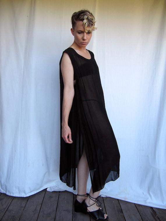 Sheer Black Long top or Dress
