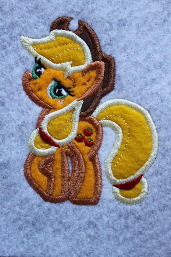 Apple Pony Embroidery Design