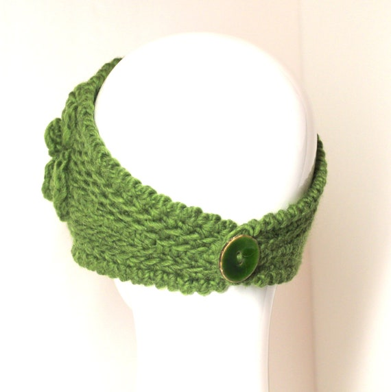 PATTERN - Fast Crochet Headband Kayla Bulky Weight Yarn Two Sizes from Absolu...