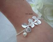 SALE Delicate Orchid Bracelet