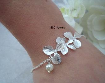 Delicate Orchid Bracelet