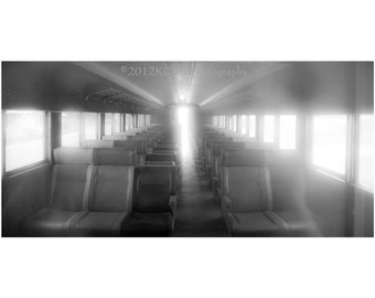 Speed of Light Black and white Fine Art Photography Train Travel to Other Worlds Dreamy Ghostly Alternate Realty and Time Travel
