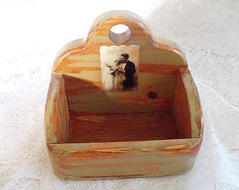 Soap Caddy Vintage photo recycled wood
