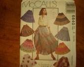 McCalls 6840 sizes Lrg - Xlg Uncut