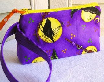 Witchy Fun Cosmetics Wristlet Pouch - Purples, Yellow, Orange Green