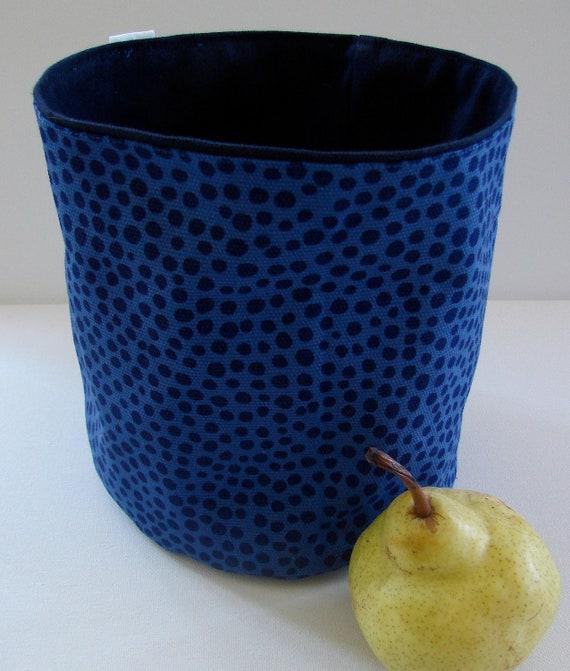 Pirput Parput Royal Blue Canvas Fabric Basket, Finland