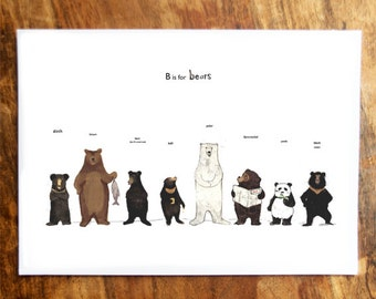 B is for Bears Card