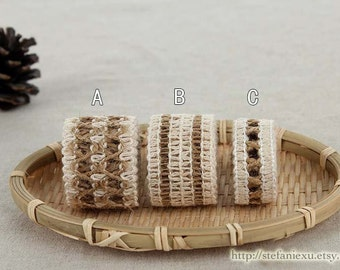 Natural Sewing Tape/Ribbon - Simple Weave Knitted Linen Tape,Choose One Pattern