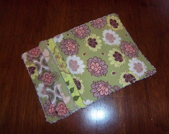 Botanica in Lime Re-usable Wipes / Washcloths