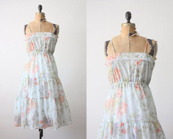 1970's floral dress - vintage floral sundress