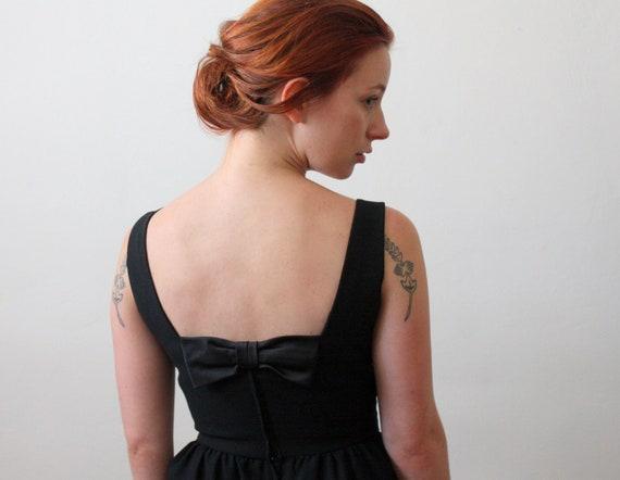 1960s dress - black bow wiggle dress