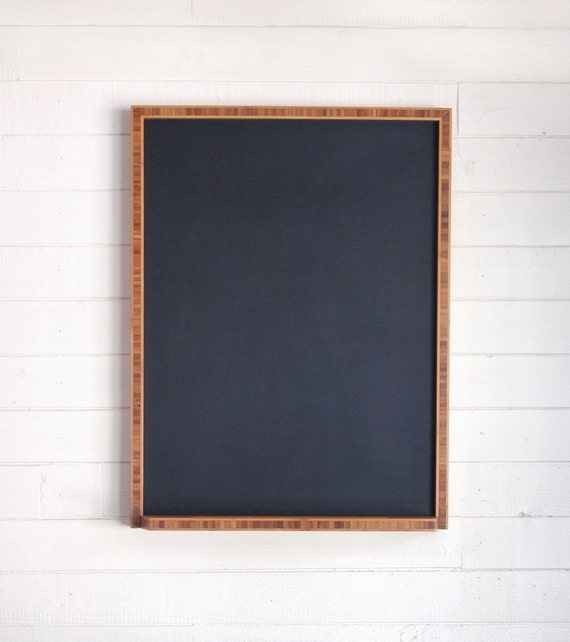 chalkboard with bamboo frame 19 x 25 hanging modern chalkboard with tray handmade