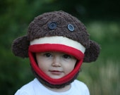 Special Sale-- Sock Monkey Mask Size Small Child