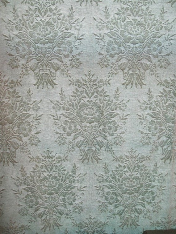 Vintage Fabric Silk Moire Fabric Aqua Silk Moire Fabric