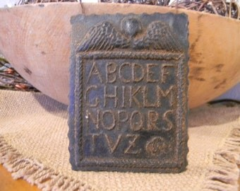 Blackened Beeswax Angel ABC Hornbook Ornie #512