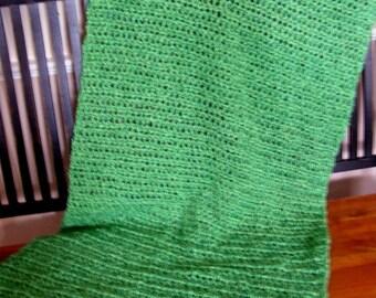 new prayer comfort shawl chemo wrap lion brand homespun yarn ultra soft FLORIDA KEYS green crochet knit handmade handmade in USA