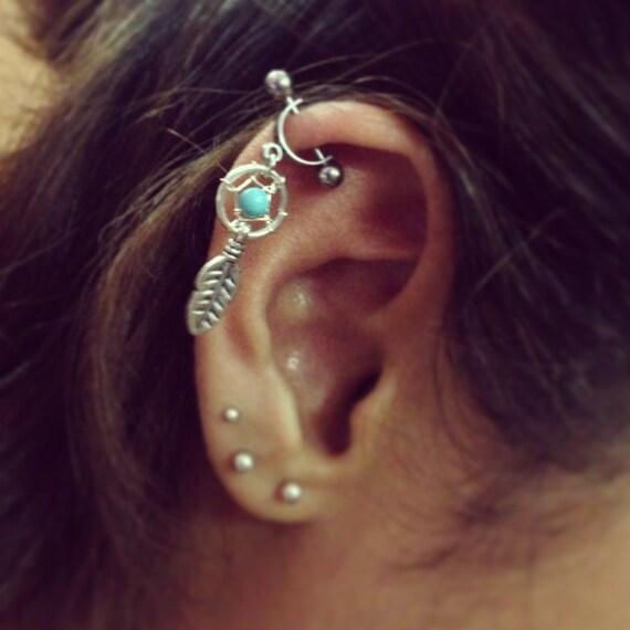 helix cartilage bar boucle doreille ear piercing 16g dream. Black Bedroom Furniture Sets. Home Design Ideas