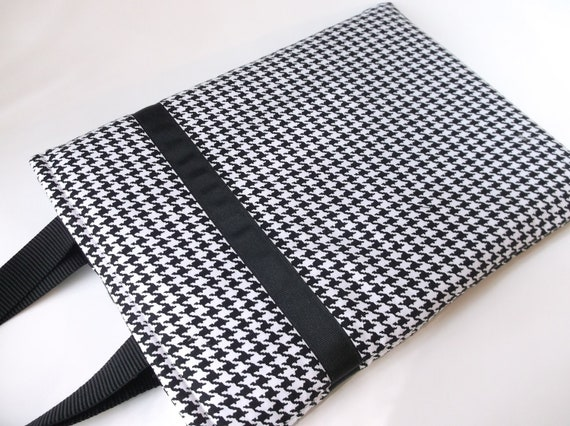 Womens Laptop Bag, Houndstooth Laptop tote, MacBook Bag, MacBook Pro 13, MacBook Air 13, MacBook Pro 13 Case,