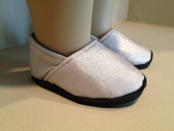 "Metalic Shoes inspired by TOMS fits 18"" American Girl Doll"