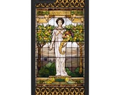 iPhone 6 iPhone 5 iPhone 4 Covers - Abundance - Tiffany Style Stained Glass Window.