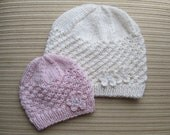 Instant Download Knitting Pattern #62 Stars Stitch Hat in Sizes  0-6 months, Child/Teen/ Small Adult