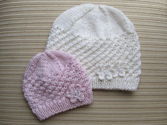 Number 62 Knitting Pattern Stars Stitch Hat in Sizes  0-6 months, Child/Teen/ Small Adult