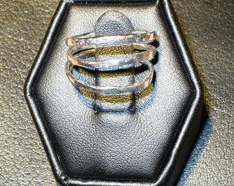 Silver Stack Rings, Stacking Rings, Stackable Ring Set