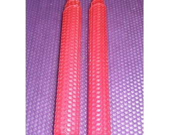 Pure Beewax Taper Candles. Extra Long Set of 2. Over 30 colors in stock.