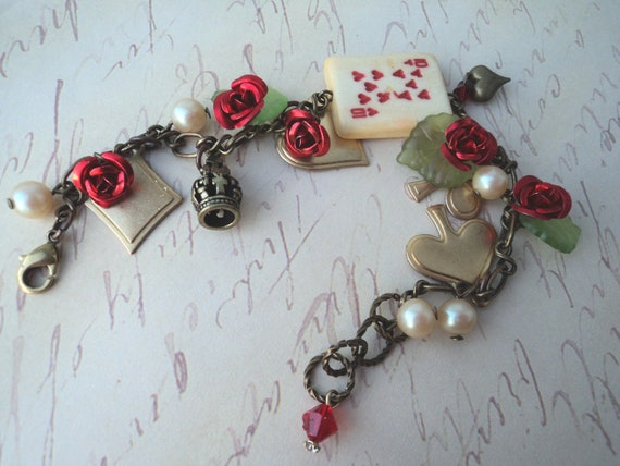 Alice in Wonderland Charm Bracelet - Painting the Roses