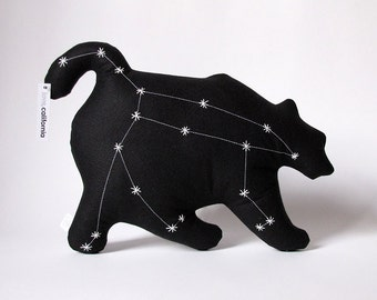 Ursa Major Glow in the Dark Constellation Pillow in Black