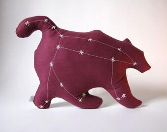 Ursa Major Glow in the Dark Constellation Pillow in Pomegranate