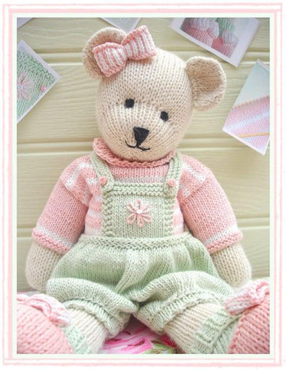 Candy Bear Toy Teddy Bear Knitting Pattern By