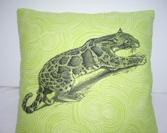 Clouded Leopard Print Cushion Cover