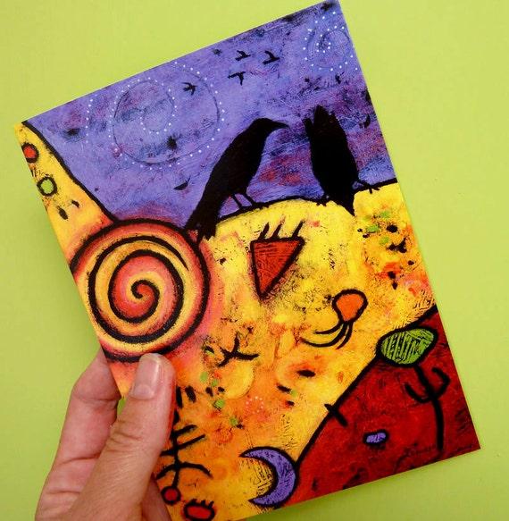 Whimsical Raven Dream Card
