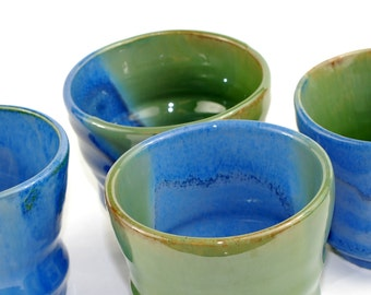 8 oz Blue and Green Tumbler set of four