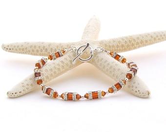 Swarovski Squaredelle Bracelet in Topaz