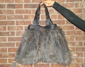 Large Faux Fur Hobo Bag