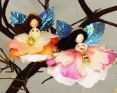Angel Christmas Ornament, Miniature Angel Doll Decoration, Fairy  Gift, Flower Ornament
