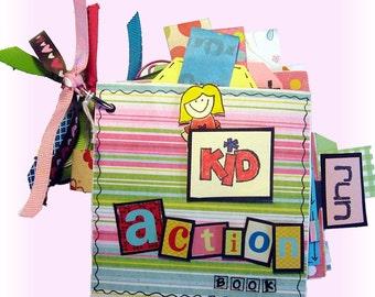 Mini Scrapbook Album, Baby Milestones, Mini Album, Photo Album, Action Girl Book, Toddler Book, Girl Energy, Cute Mini Scrapbook, First Year