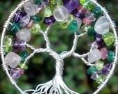 Gemmy Gemstone Tree of Life Pendant