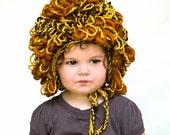 Little Lion Costume Hat - Organic Cotton Merino Wool Alpaca - Boy Halloween Costume - Fall Autumn Photo Prop - Halloween Photo Prop
