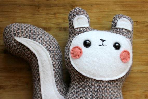 RESERVED for ameliefleurant - Bon Bon - The Blushing Woodland Squirrel Plush - Made to order by sleepyking